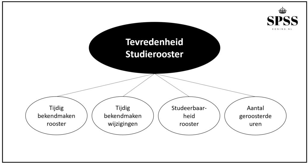 Construct in SPSS schematische weergave